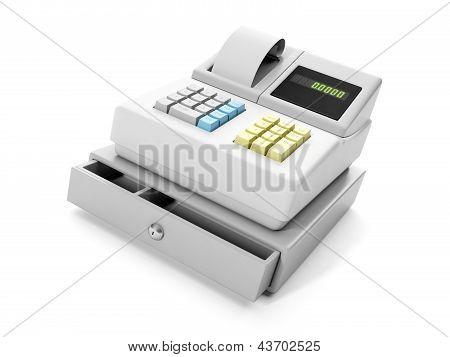 3D Illustration: Cash Register Close-up