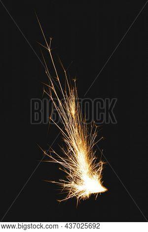 Firecracker element, realistic mine flame image