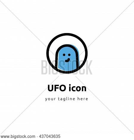 Space Aliens. Ufo Icon. The Future Outer Space Vector Illustration