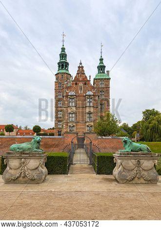 Royal Danish Renaissance Castle Rosenborg in Kings Garden, Copenhagen