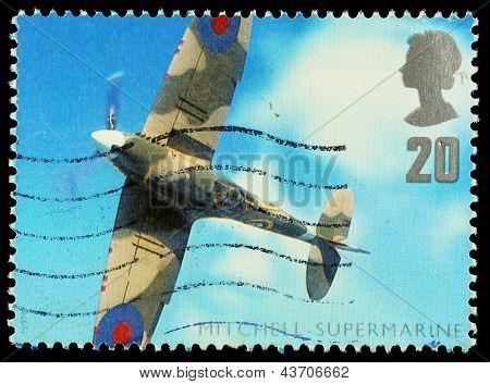 Britain Spitfire Plane Postage Stamp