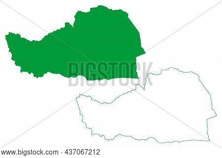 Ibitiara Municipality (bahia State, Municipalities Of Brazil, Federative Republic Of Brazil) Map Vec