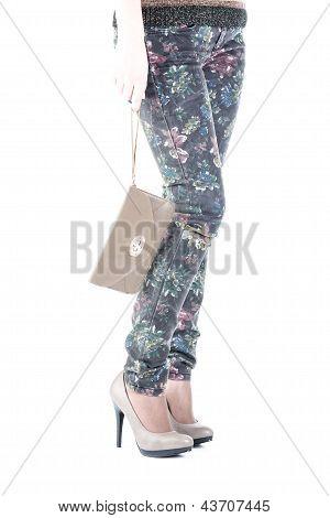 Female Leg In Shoes