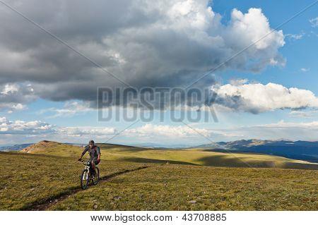 Mountain Biking In The Alpine Tundra