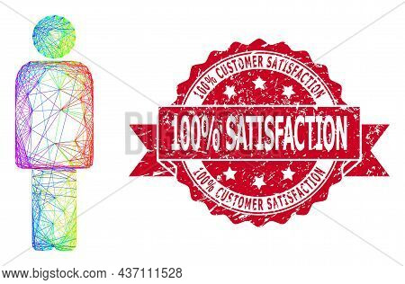 Spectrum Colorful Net Person, And 100 Percent Customer Satisfaction 100 Percent Satisfaction Scratch