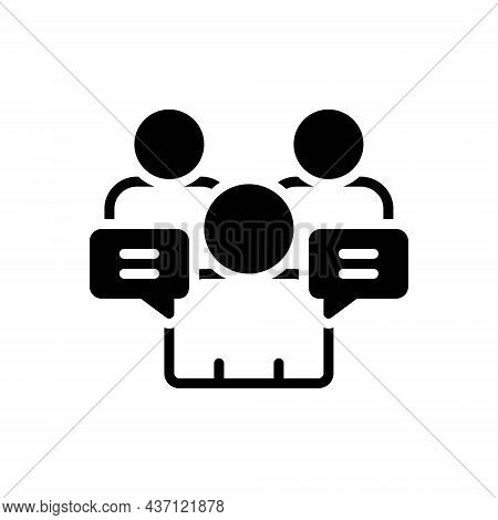 Black Solid Icon For Ours-counsel Adviser Consultant Discuss Meeting Advisory Psychologist