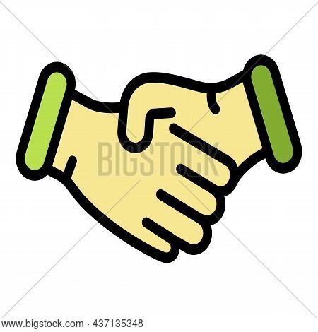 Divorce Handshake Icon. Outline Divorce Handshake Vector Icon Color Flat Isolated