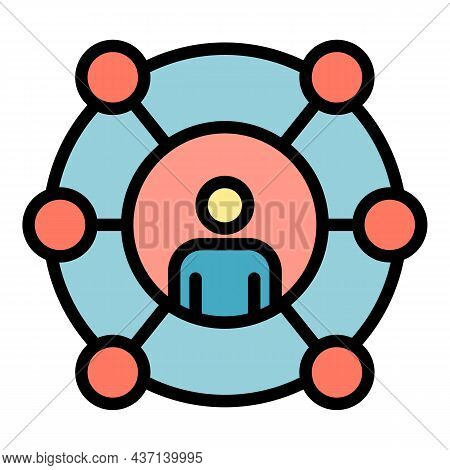 Excellence Scheme Icon. Outline Excellence Scheme Vector Icon Color Flat Isolated