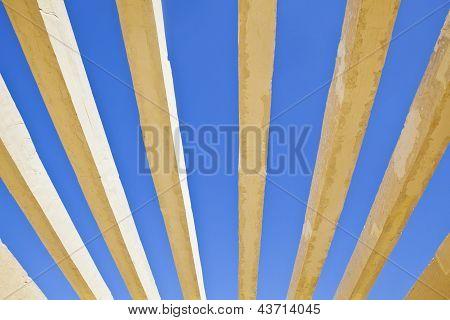 Concrete Shapes On A Rich Blue Sky