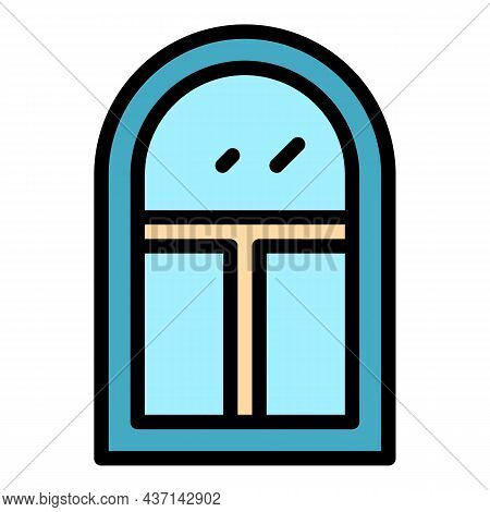 Classic Window Icon. Outline Classic Window Vector Icon Color Flat Isolated