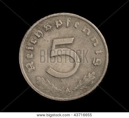 Five Reichspfennig Coin.
