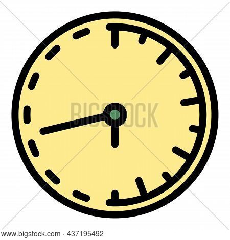 Classic Wall Clock Repair Icon. Outline Classic Wall Clock Repair Vector Icon Color Flat Isolated