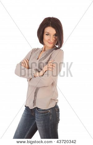 Sexy Woman Isolated On White Background