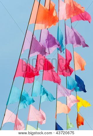 Merry Colorful Flags