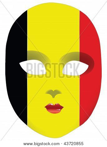 Flag Mask Belgium