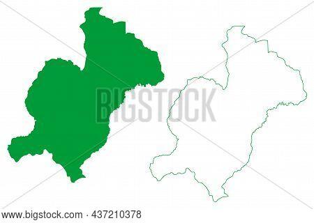 Condeuba Municipality (bahia State, Municipalities Of Brazil, Federative Republic Of Brazil) Map Vec