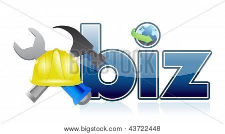 Biz Under Construction Sign