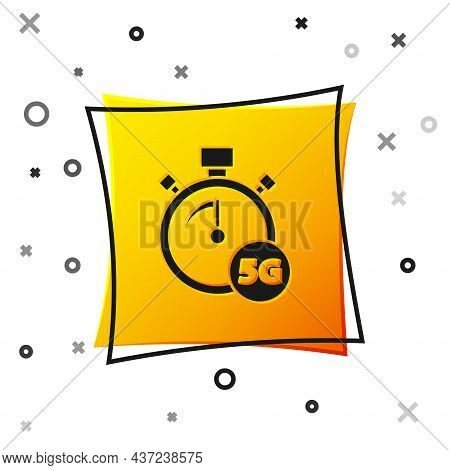 Black Digital Speed Meter Concept With 5g Icon Isolated On White Background. Global Network High Spe