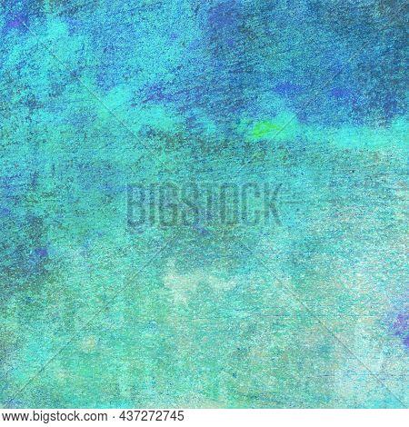 A Blue Green Aqua Colored Background Full Of Texture