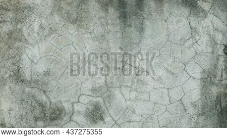 The Old Cement Wall Was Weathered, The Surface Was Scratched, The Surface Was Scratched And Damaged.