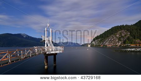 Night Shot Of Porteau Cove Provincial Park