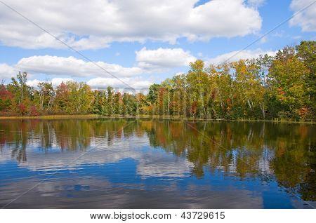 Early Autumn Northwoods Lake