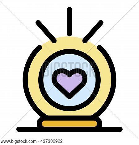 Volunteer Alarm Clock Icon. Outline Volunteer Alarm Clock Vector Icon Color Flat Isolated