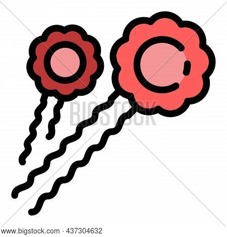 Barrette Accessories Icon. Outline Barrette Accessories Vector Icon Color Flat Isolated