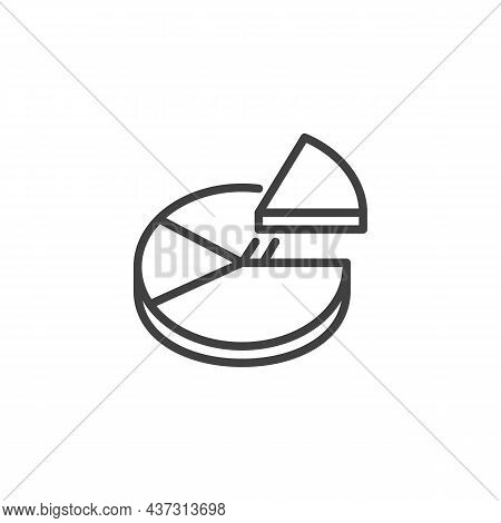 Pie Chart Diagram Line Icon. Linear Style Sign For Mobile Concept And Web Design. Pie Chart Infograp