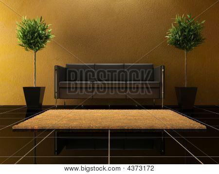 Interior Design - Black Sofa