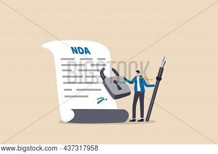 Nda, Non Disclosure Agreement Contract Signing, Legal Confidential Document For Working Employee Ack