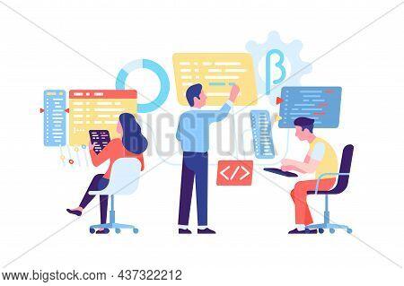 Coding Computers People. Software Engineering Process. Web And Apps Technologies. Program Developmen