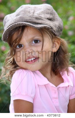 Little Girl Posed Outside