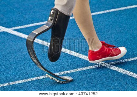 Handicapped Sprinter Walking