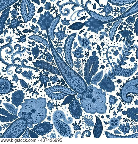 Floral Seamless Pattern With Blossom And Flora