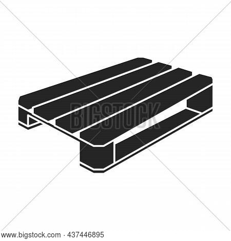 Wood Pallet Vector Icon.black Vector Icon Isolated On White Background Wood Pallet.