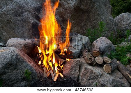 campfire Among Stones