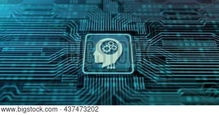 Machine Learning Ai Artificial Intelligence Neural Network Concept On Screen