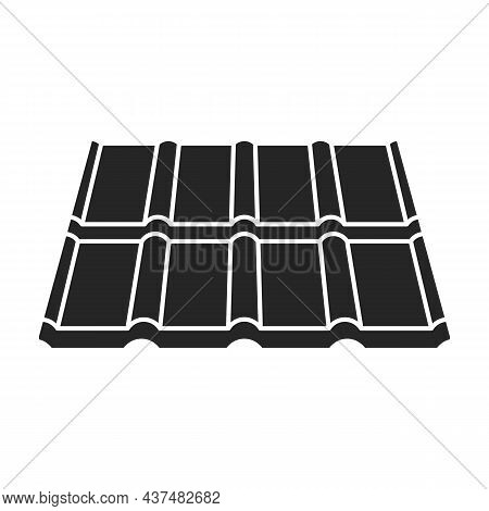 Metal Tiling Vector Icon.black Vector Icon Isolated On White Background Metal Tiling.