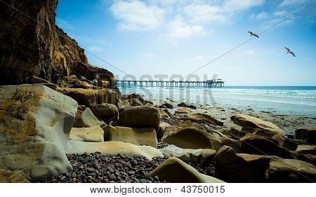 San Diego, California USA, Coastline Beach