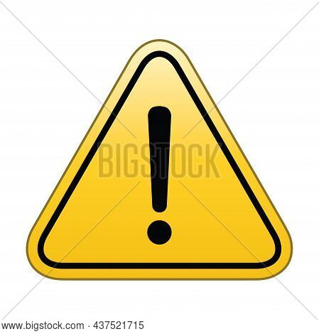 Caution Warning Sign. Danger And Warning Sign, Attention Sign. Hazard Warning Attention Sign With Ex