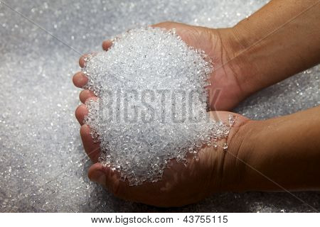 Pile of plastic pellets