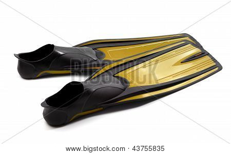 Yellow Swim Fins
