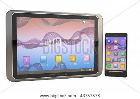 Modern Smartphone and Tablet PC isolated