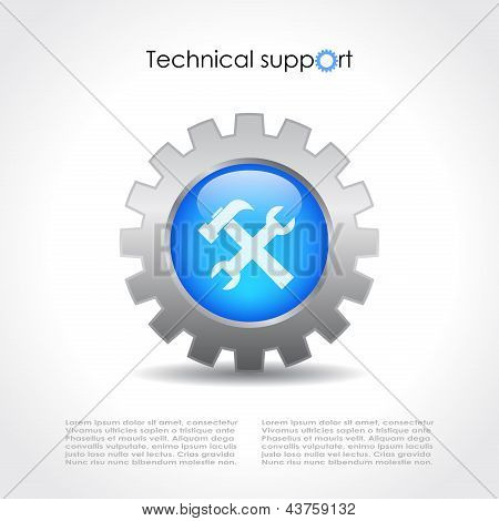 Technical support vector icon