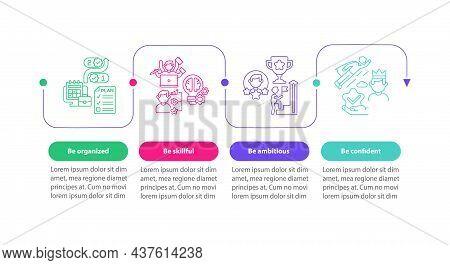 Worker Traits Vector Infographic Template. Productivity Presentation Outline Design Elements. Data V