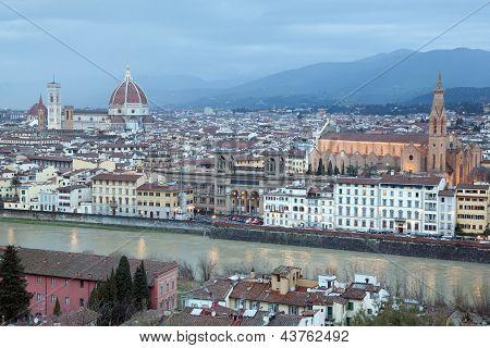 Duomo Cathedral And Santa Cruce Church, Florence