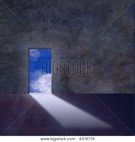 Doorway Opens To Sky