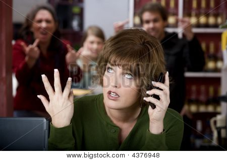 Annoying Woman On Her Cell Phone