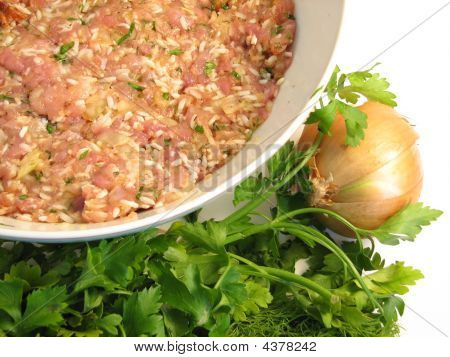 Preparing A Stuffed Cabbage Roll